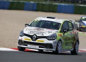 Renault Clio Cup Benelux in actie tijdens Internationaal  Masters weekend op Zandvoort