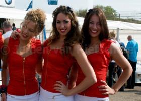 Ook gridgirl tijdens Grand Prix van Rusland