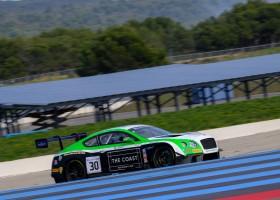 Bentley snelste tijdens eerste testdag op Paul Ricard