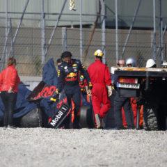 Gasly crasht voor de tweede maal tijdens de wintertesten hard met de RB15