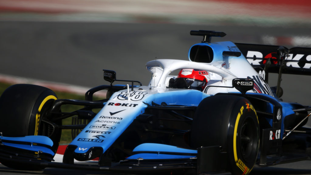 Kubica back behind the wheel of a F1 car