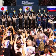 Overall podium -#7 TOYOTA GAZOO RACING / JPN / Toyota TS050 - Hybrid - Hybrid / Mike Conway (GBR) / Kamui Kobayashi (JPN) / Jose Maria Lopez (ARG) -#8 TOYOTA GAZOO RACING / JPN / Toyota TS050 - Hybrid - Hybrid / Sebastien Buemi (CHE) / Fernando Alonso (ESP) / Kazuki Nakajima (JPN) -#11 SMP RACING / RUS / BR Engineering BR1 - AER - Mikhail Aleshin (RUS) / Vitaly Petrov (RUS) / Brendon Hartley (NZL) -1000 Miles of Sebring - Sebring international Raceway - Sebring - Florida - United States of America -
