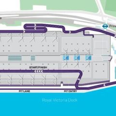 Londen stratencircuit in Royal Docklands