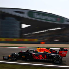 SHANGHAI, CHINA - APRIL 12: Max Verstappen of the Netherlands driving the (33) Aston Martin Red Bull Racing RB15 on track during practice for the F1 Grand Prix of China at Shanghai International Circuit on April 12, 2019 in Shanghai, China. (Photo by Clive Mason/Getty Images) // Getty Images / Red Bull Content Pool  // AP-1YZPSASE92111 // Usage for editorial use only // Please go to www.redbullcontentpool.com for further information. //
