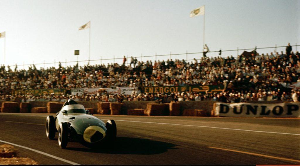 Stirling Moss in de Marokkaanse GP van 1958