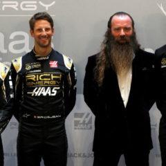 Magnussen, Grosjean, Storey en Steiner