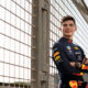 Max Verstappen posing for a portrait at the Yas Marina Circuit, Abu Dhabi // Dustin Snipes/Red Bull Content Pool // AP-1YBAMEJQ92111 // Usage for editorial use only // Please go to www.redbullcontentpool.com for further information. //
