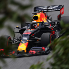 SAO PAULO, BRAZIL - NOVEMBER 16: Max Verstappen of the Netherlands driving the (33) Aston Martin Red Bull Racing RB15 on track during final practice for the F1 Grand Prix of Brazil at Autodromo Jose Carlos Pace on November 16, 2019 in Sao Paulo, Brazil. (Photo by Charles Coates/Getty Images) // Getty Images / Red Bull Content Pool // AP-2271R91DH1W11 // Usage for editorial use only //