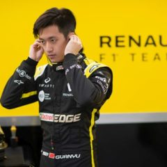 Guanyu Zhou (CHN) Renault F1 Team Test and Development Driver. Renault F1 Team Test Session, Wednesday 13th March 2019. Silverstone, England.