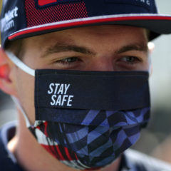 SPIELBERG, AUSTRIA - JULY 04: Max Verstappen of Netherlands and Red Bull Racing arrives before final practice for the Formula One Grand Prix of Austria at Red Bull Ring on July 04, 2020 in Spielberg, Austria. (Photo by Peter Fox/Getty Images)