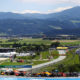 SPIELBERG, AUSTRIA - JULY 05: A general view as Max Verstappen of the Netherlands driving the (33) Aston Martin Red Bull Racing RB16 leads a line of cars during the Formula One Grand Prix of Austria at Red Bull Ring on July 05, 2020 in Spielberg, Austria. (Photo by Bryn Lennon/Getty Images)