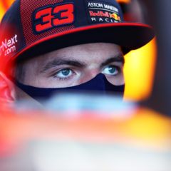 NORTHAMPTON, ENGLAND - JULY 30: Max Verstappen of Netherlands and Red Bull Racing sits in his car in the garage during previews ahead of the F1 Grand Prix of Great Britain at Silverstone on July 30, 2020 in Northampton, England. (Photo by Mark Thompson/Getty Images) // Getty Images / Red Bull Content Pool // AP-24SS5YZ9D1W11 // Usage for editorial use only //