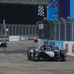 Stoffel Vandoorne (BEL), Mercedes Benz EQ, EQ Silver Arrow 01 crosses the line and takes the chequered flag