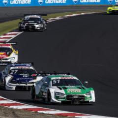 51 Nico Müller (SUI, Audi Sport Team Abt Sportsline, Audi RS 5 DTM), 27 Jonathan Aberdein (RSA, BMW Team RMR, BMW M4 DTM), 31 Sheldon van der Linde (RSA, BMW Team RBM, BMW M4 DTM), 2020 DTM Nürburgring Sprint; *** Local Caption *** +++ www.hoch-zwei.net +++ copyright: HOCH ZWEI / Thomas Suer +++