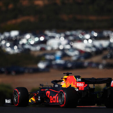 PORTIMAO, PORTUGAL - OCTOBER 24: Max Verstappen of the Netherlands driving the (33) Aston Martin Red Bull Racing RB16 on track during final practice ahead of the F1 Grand Prix of Portugal at Autodromo Internacional do Algarve on October 24, 2020 in Portimao, Portugal. (Photo by Joe Portlock/Getty Images)