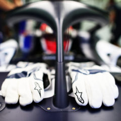 BAHRAIN, BAHRAIN - NOVEMBER 27: A detail shot of the gloves of Daniil Kvyat of Russia and Scuderia AlphaTauri on his car during practice ahead of the F1 Grand Prix of Bahrain at Bahrain International Circuit on November 27, 2020 in Bahrain, Bahrain. (Photo by Peter Fox/Getty Images) // Getty Images / Red Bull Content Pool // SI202011270208 // Usage for editorial use only //