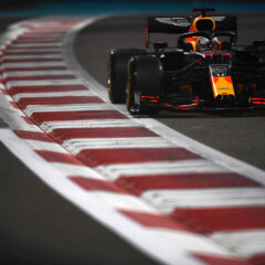 ABU DHABI, UNITED ARAB EMIRATES - DECEMBER 12: Max Verstappen of the Netherlands driving the (33) Aston Martin Red Bull Racing RB16 on track during qualifying ahead of the F1 Grand Prix of Abu Dhabi at Yas Marina Circuit on December 12, 2020 in Abu Dhabi, United Arab Emirates. (Photo by Rudy Carezzevoli/Getty Images) // Getty Images / Red Bull Content Pool // SI202012120496 // Usage for editorial use only //