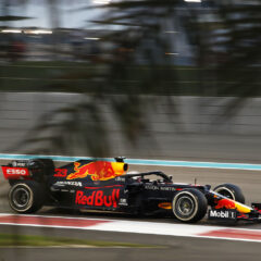 ABU DHABI, UNITED ARAB EMIRATES - DECEMBER 13: Max Verstappen of the Netherlands driving the (33) Aston Martin Red Bull Racing RB16 during the F1 Grand Prix of Abu Dhabi at Yas Marina Circuit on December 13, 2020 in Abu Dhabi, United Arab Emirates. (Photo by Hamad I Mohammed - Pool/Getty Images)
