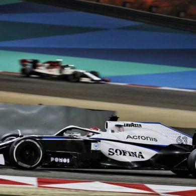 George Russell (GBR) Williams Racing FW43. Bahrain Grand Prix, Sunday 29th November 2020. Sakhir, Bahrain.