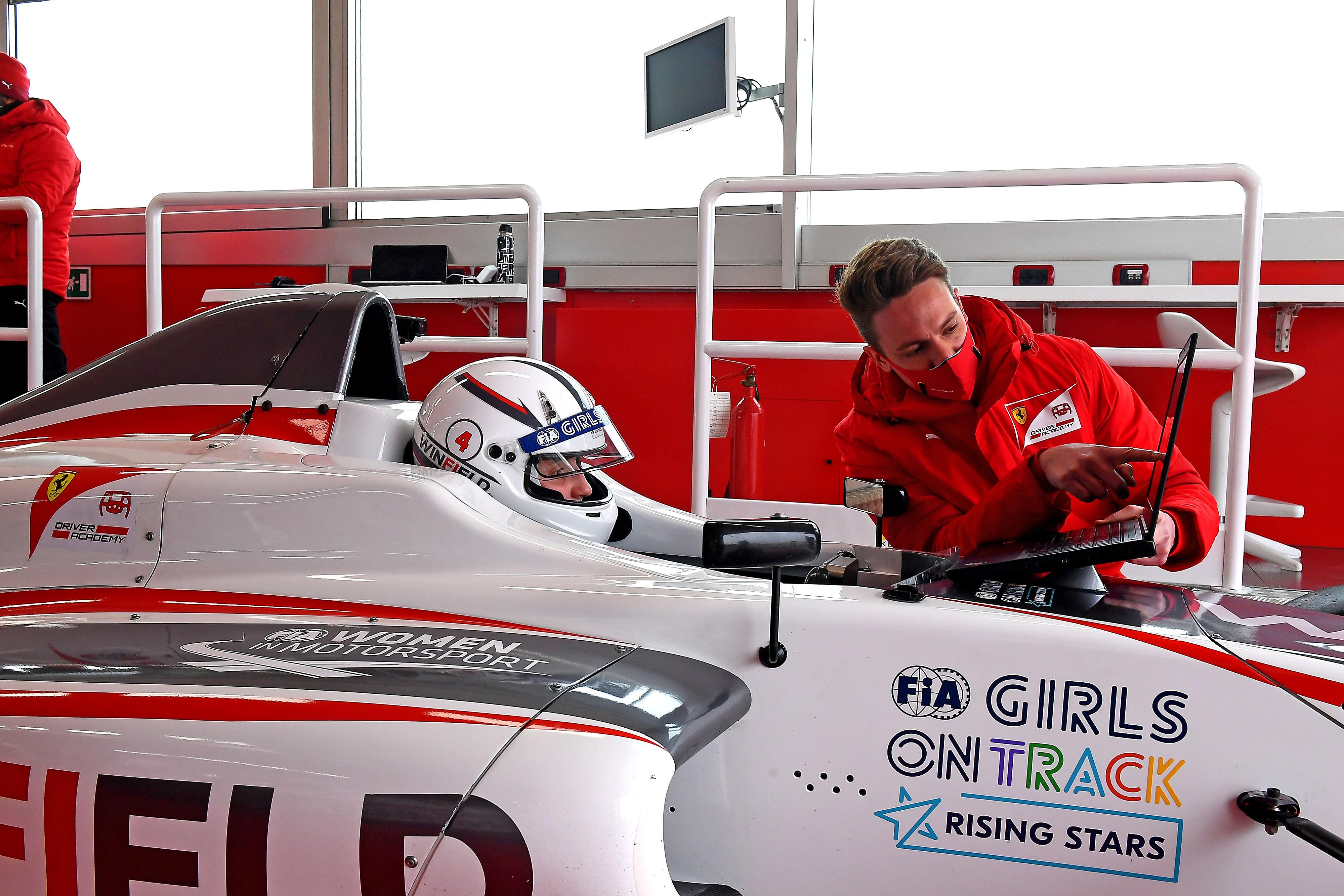 FDA CAMP GIRLS ON TRACK - FIORANO 14-15/01/2021 credit: @Scuderia Ferrari Press Office