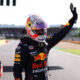 NORTHAMPTON, ENGLAND - JULY 17: Winner Max Verstappen of Netherlands and Red Bull Racing celebrates in parc ferme during the Sprint for the F1 Grand Prix of Great Britain at Silverstone on July 17, 2021 in Northampton, England. (Photo by Lars Baron/Getty Images) // Getty Images / Red Bull Content Pool  // SI202107170365 // Usage for editorial use only //