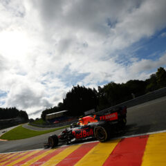 SPA, BELGIUM - AUGUST 27: Sergio Perez of Mexico driving the (11) Red Bull Racing RB16B Honda during practice ahead of the F1 Grand Prix of Belgium at Circuit de Spa-Francorchamps on August 27, 2021 in Spa, Belgium. (Photo by Dan Mullan/Getty Image // Getty Images / Red Bull Content Pool  // SI202108270083 // Usage for editorial use only //