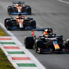 MONZA, ITALY - SEPTEMBER 11: Max Verstappen of the Netherlands driving the (33) Red Bull Racing RB16B Honda during the Sprint ahead of the F1 Grand Prix of Italy at Autodromo di Monza on September 11, 2021 in Monza, Italy. (Photo by Rudy Carezzevoli/Getty Images) // Getty Images / Red Bull Content Pool  // SI202109110455 // Usage for editorial use only //