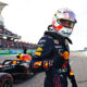 AUSTIN, TEXAS - OCTOBER 23: Pole position qualifier Max Verstappen of Netherlands and Red Bull Racing celebrates in parc ferme during qualifying ahead of the F1 Grand Prix of USA at Circuit of The Americas on October 23, 2021 in Austin, Texas. (Photo by Mark Thompson/Getty Images) // Getty Images / Red Bull Content Pool  // SI202110240073 // Usage for editorial use only //
